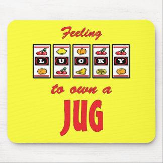 Lucky to Own a Jug Fun Dog Design Mousepad