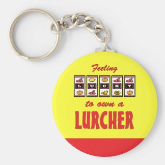 Lucky to Own a Lurcher Fun Dog Design Key Ring