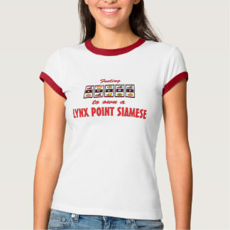 Lucky to Own a Lynx Point Siamese Fun Cat Design T-shirts