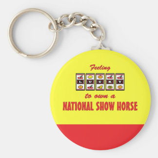 Lucky to Own a National Show Horse Fun Design Basic Round Button Key Ring