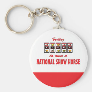 Lucky to Own a National Show Horse Fun Design Key Chains