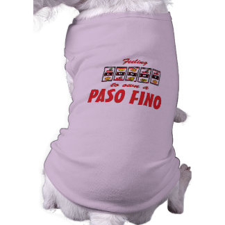Lucky to Own a Paso Fino Fun Horse Design Doggie Tshirt