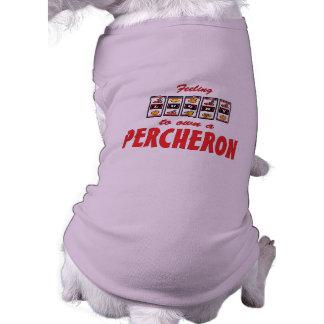 Lucky to Own a Percheron Fun Horse Design Dog T-shirt