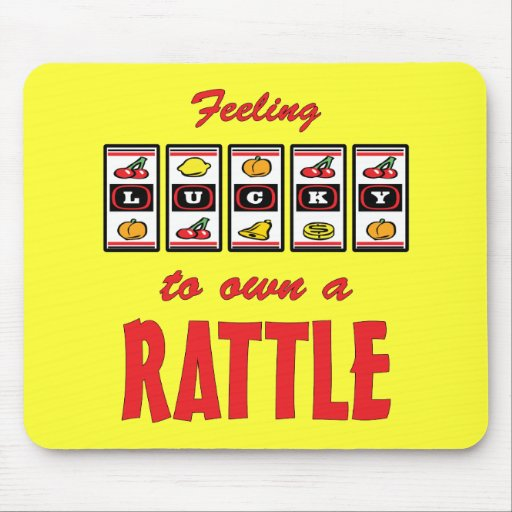 Lucky to Own a Rattle Fun Dog Design Mousepad