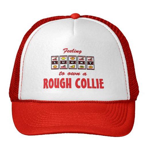 Lucky to Own a Rough Collie Fun Dog Design Mesh Hats