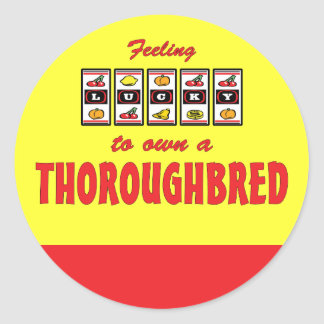 Lucky to Own a Thoroughbred Fun Horse Design Stickers