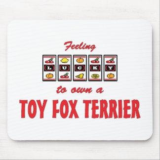 Lucky to Own a Toy Fox Terrier Fun Dog Design Mousepads