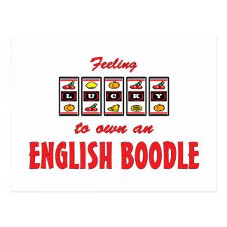 Lucky to Own an English Boodle Fun Dog Design Postcard