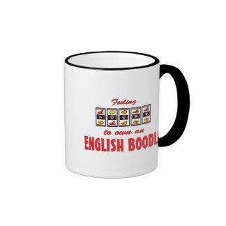 Lucky to Own an English Boodle Fun Dog Design Ringer Mug