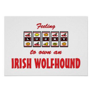 Lucky to Own an Irish Wolfhound Fun Dog Design Poster