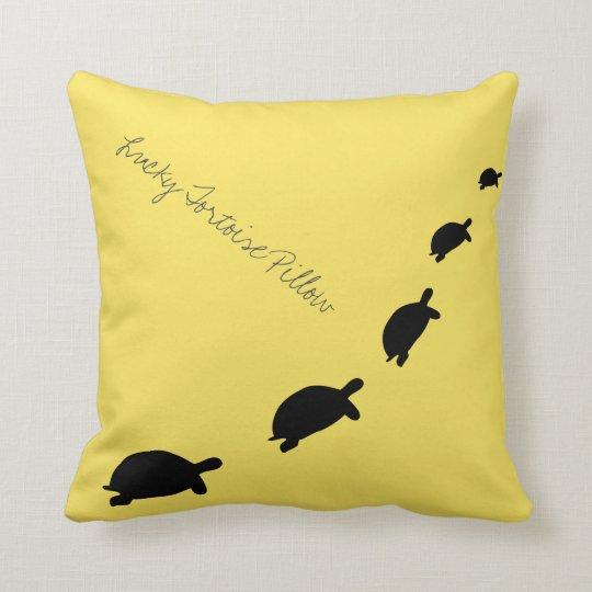 Lucky Tortoise Throw Pillow / Cushion