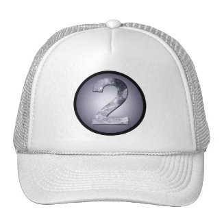 Lucky Two Lunar Circle Crest Mystic Number Cap