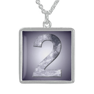 Lucky Two Lunar Symbol Mystic Number Pendant