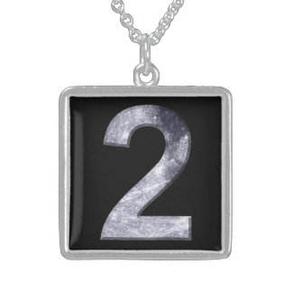 Lucky Two Lunar Symbol Numerology Power Number Square Pendant Necklace