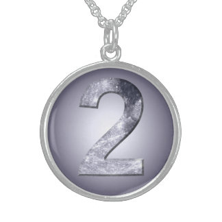 Lucky Two Lunar Symbol Sterling Silver Necklace