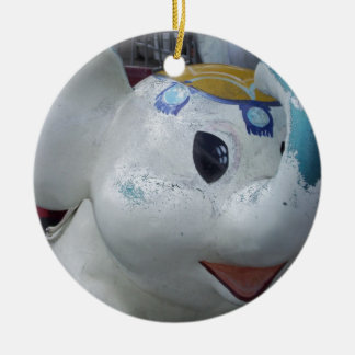 Lucky Vintage Amusement Park Elephant  Ride Christmas Ornament