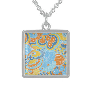Lucky Vital Champion Shy Square Pendant Necklace