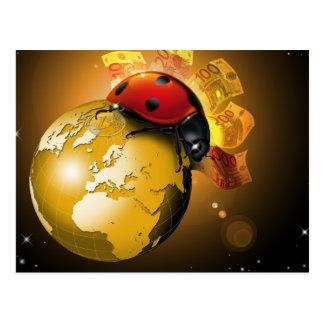 Lucky world postcard