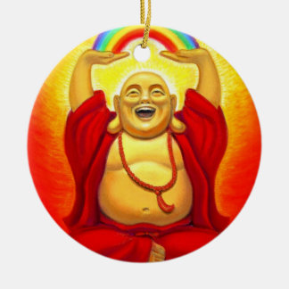 Lucky Zen Laughing Buddha Ornament