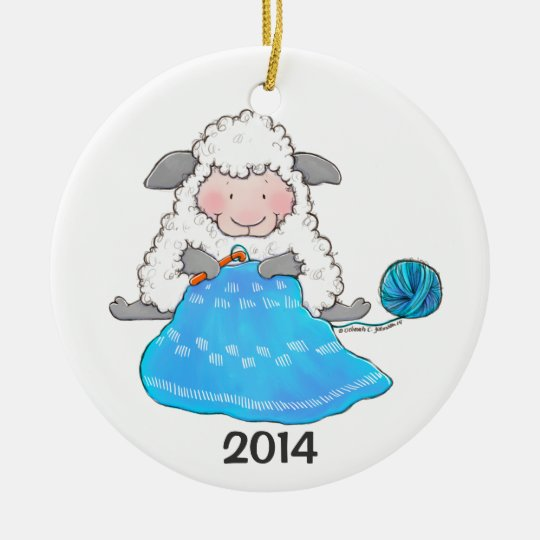 Lucy Ewe Crochets Christmas Ornament
