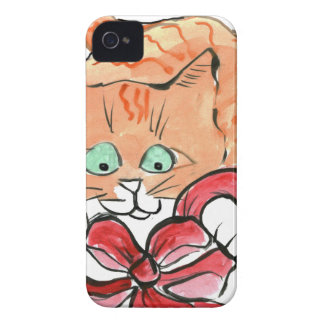 Lucy Kitten Loves Red Bows iPhone 4 Case
