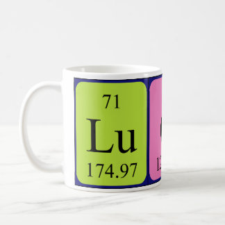Lucy periodic table name mug