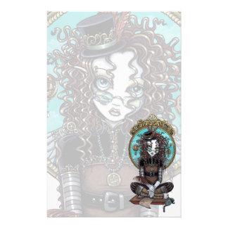 """Lucy"" Steam Punk Air Balloon Fairy Art Stationery"