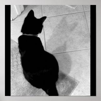 Lucy's Shadow B+W Print