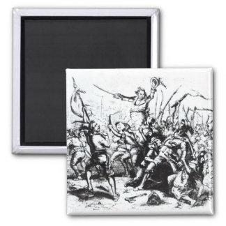 Luddite Rioters, 1811-12 Square Magnet