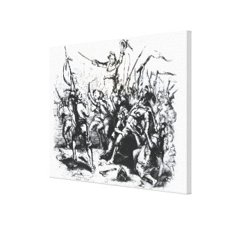 Luddite Rioters Canvas Print