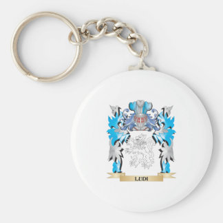 Ludi Coat of Arms - Family Crest Basic Round Button Key Ring