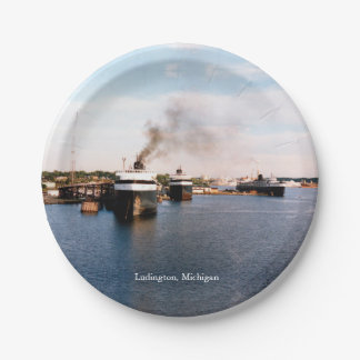 Ludington Car/Rail Ferries paper plate 7 Inch Paper Plate