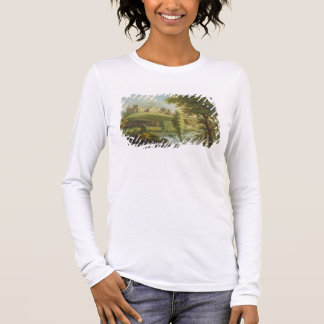 Ludlow Castle with Dinham Weir, from the South-Wes Long Sleeve T-Shirt