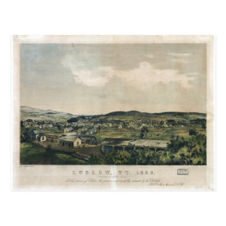 Ludlow Vermont From South Hill (1859) Postcard