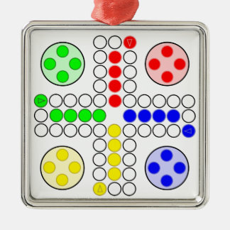 Ludo Classic Board Game Christmas Ornament