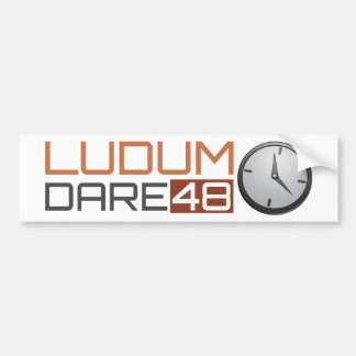 Ludum Dare Shiny Clock Bumper Sticker