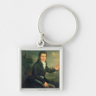 Ludvig van Beethoven , 1804 Silver-Colored Square Key Ring