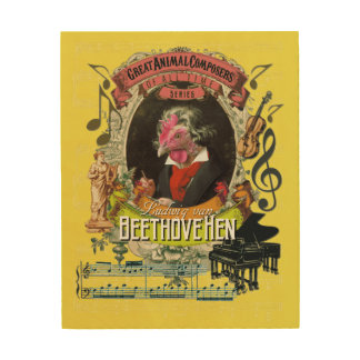 Ludwig Beethovehen Funny Animal Composer Beethoven Wood Wall Decor