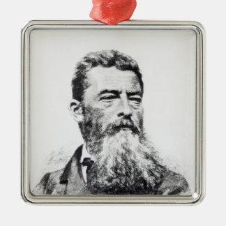 Ludwig Feuerbach Silver-Colored Square Decoration