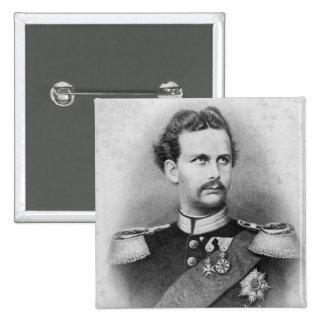 Ludwig II of Bavaria 15 Cm Square Badge