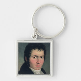 Ludwig van Beethoven , 1804 Silver-Colored Square Key Ring