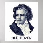 Ludwig van Beethoven, blue Poster