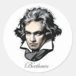 Ludwig van Beethoven Classic Round Sticker