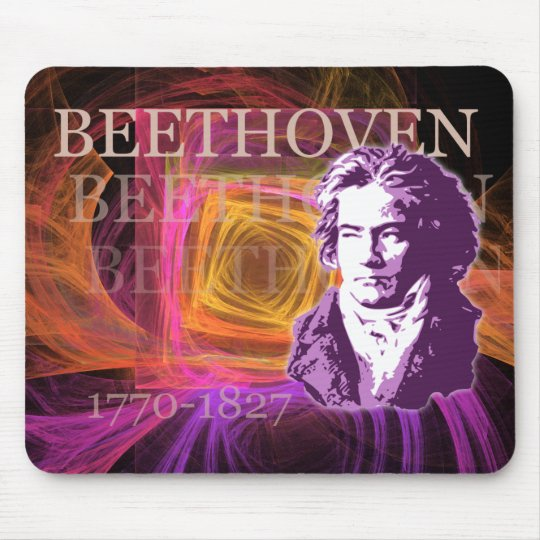 Ludwig van Beethoven Classical Composer Portrait Mouse Mat