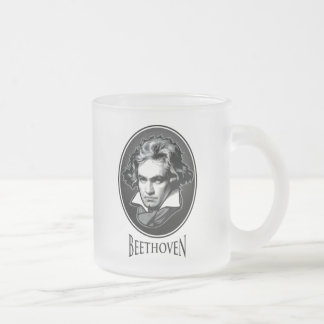 Ludwig van Beethoven Frosted Glass Coffee Mug