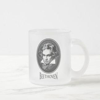 Ludwig van Beethoven Frosted Glass Mug