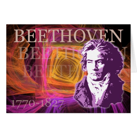 Ludwig van Beethoven Pop Art Portait Card