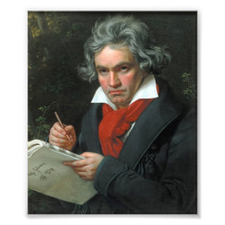 Ludwig van Beethoven Portrait Photo Print