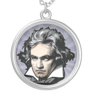 Ludwig Van Beethoven Round Pendant Necklace