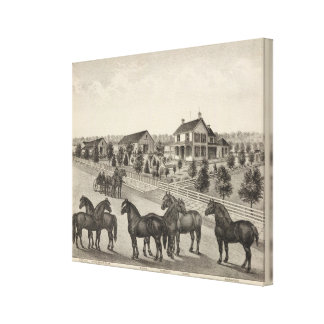 Luellen and Fox, Residence of John Fox, Kansas Canvas Print